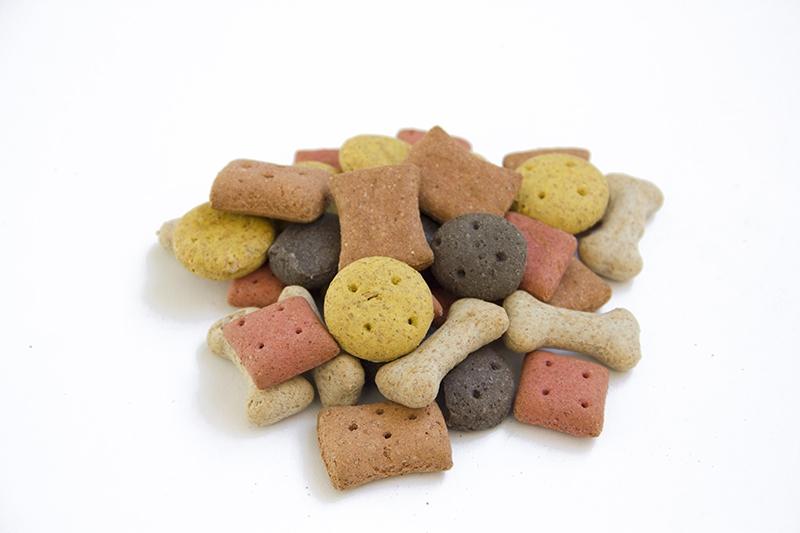 biscotti variegati per cane