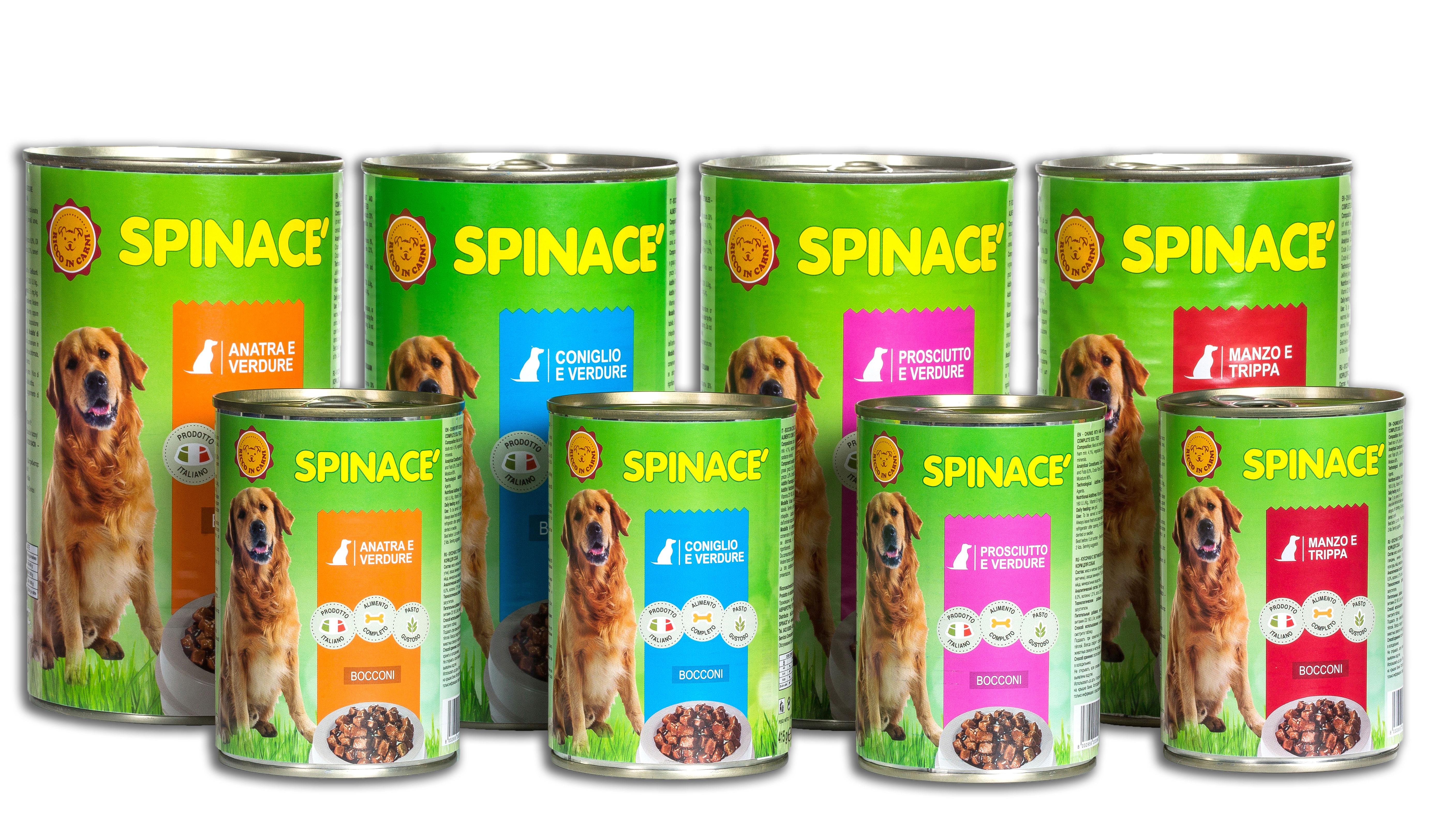 scatolette cani linea spinacè